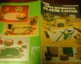 Kitchen Plastic Canvas Patterns Table Settings in Plastic Canvas Leisure Arts 231 Plastic Canvas Pattern Leaflet