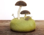 Pincushion Pin Cushion Umbrella Mushrooms Nature Lovers Sewing Table Decor Wool Sculpture Made To Order