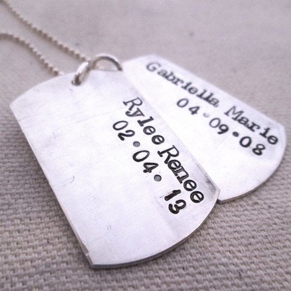 Daddy Dog Tag Necklace II - personalized dog tag necklace