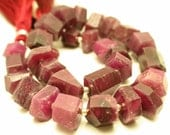 "9"" Strand - Very Unique Ruby  Faceted  Fancy Nuggetes-RF1192-reserved"