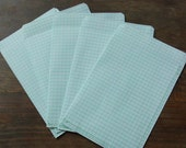 large grid thin paper mailing envelopes