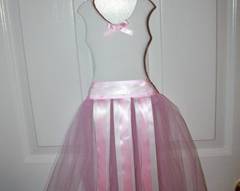 Princess Ballerina Bow Holder -White top with Pink Skirt