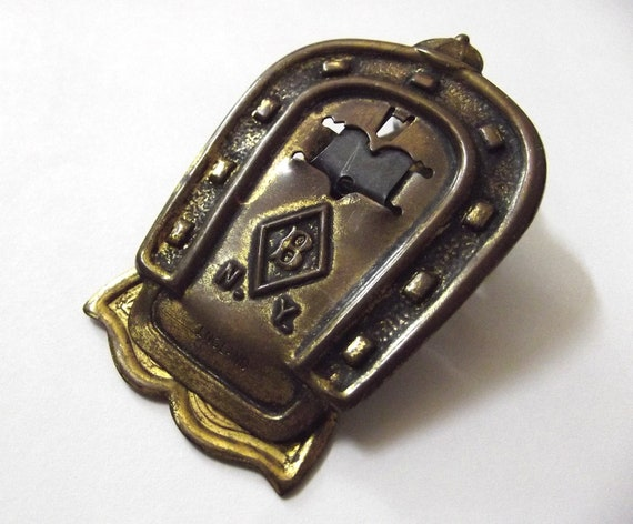 Antique Brass Horseshoe Clip ... Edward saved all of her love letters.