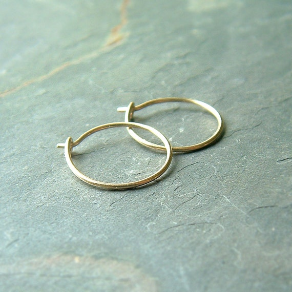 solid gold hoops earrings 14k gold hoops small hoops solid gold hoop earrings eco 977