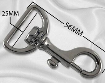 "100pcs - 1"" Metal Large Bolt Snap Hook - Black Nickel - (METAL HOOK MHK-110)"