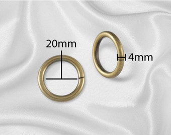 "30pcs - 3/4"" Metal O Rings Three Quarter Non Welded Antique Brass - Free Shipping (O-RING ORG-104)"