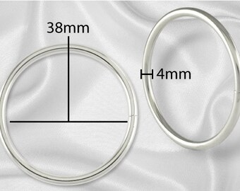 "50pcs - 2"" Metal O Rings Non Welded Nickel - Free Shipping (O-RING ORG-132)"