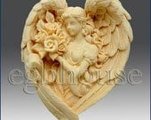2D Soap Silicone Mold - Angel of the Seasons- Spring - free shipping
