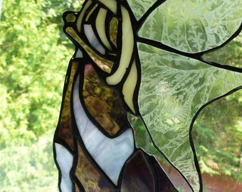 Fairie Fairy Vixen Angel Stained Glass Medieval Renaissance