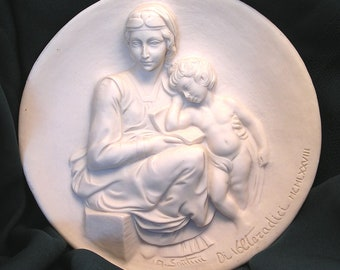 Vintage Madonna Pensosa 1978 Collector Plate Madonna Child