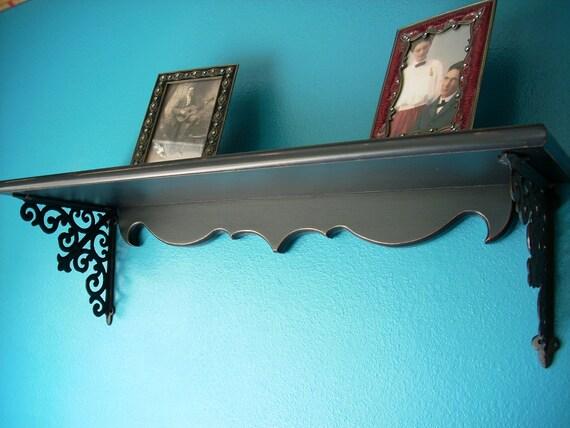Furniture Shelves Cast Iron Bracket Shelf Fleur de Lis
