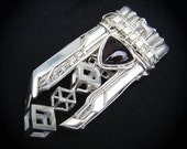 Metalwork / Wire Wrapped Sterling Silver Cube Pendant