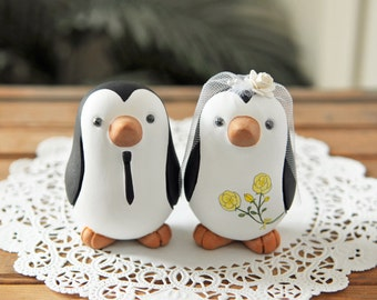 Wedding Cake Topper - Penguins - Medium