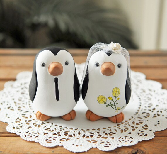 penguin wedding cake topper wedding cake topper penguins medium 18187