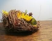 Rustic Easter Decor, Basket Pod, Faux Birds Nest,  Cornucopia Alternative, Woven Rustic Outdoors, Eco Thanksgiving Table, Baby Shower Decor
