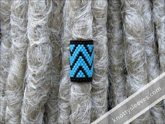 Dread Sleeve, Dreadlock Accessory, Hair Bead, Loc Jewelry, Peyote Stitch, Loc Bead, Dread Cuff, Dreadlock Wrap, Azteca