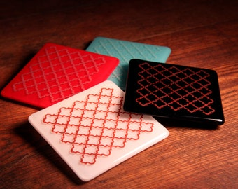 Fun with Patterns Glass Coasters
