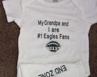 Philadelphia Eagles Football Baby Infant Newborn Onesie Creeper Infant Newborn Personalized