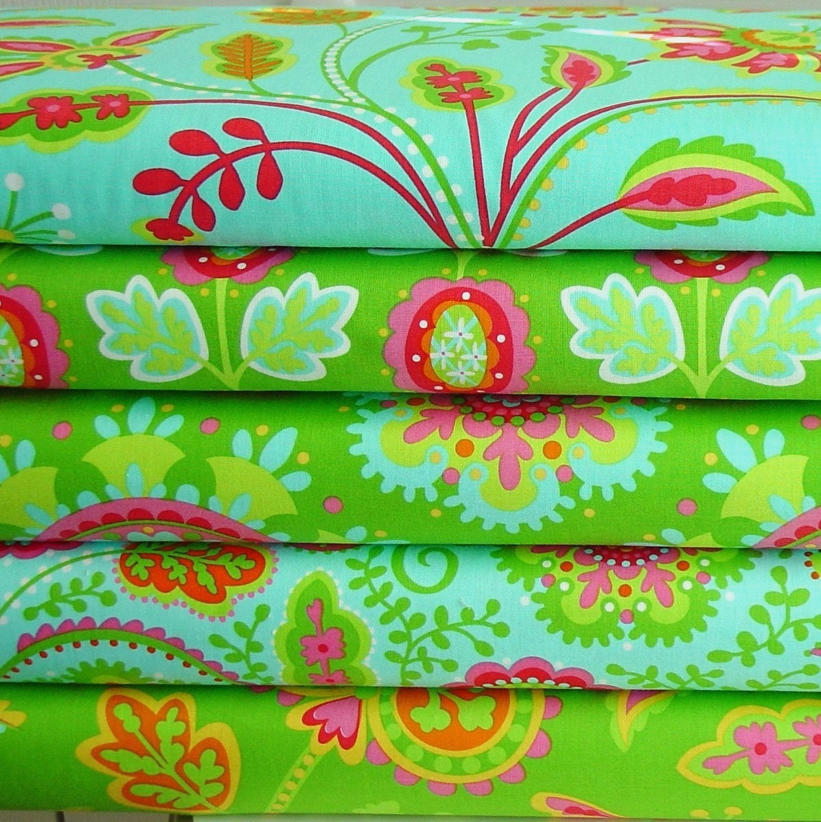 Garden party fabric collection by pillow and maxfield yard for Garden party fabric by blackbird designs
