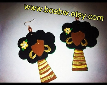 Afro Beauty Trees Earrings