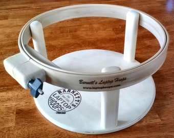 Barnett's Laptop Hoops - Hand quilting travel size lap frame 12 inch