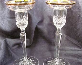 ON SALE was 65.00 Wedgwood Crystal Candle Holders