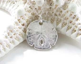 Sand Dollar Necklace - Hand Made from Fine Silver and molded from a Real Sand Dollar -  Sterling Chain - Made To Order - Real Sand Dollar