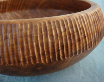 Maple Bowl With Carvings