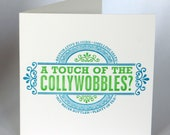 Letterpress Typeset Cards - A Touch of the Collywobbles