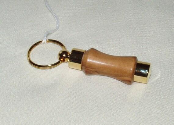 Perfume Holder, Key Ring, Olive Wood