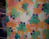 Frogs- Frogs - and More Frogs -  2 Layer Polar Fleece Tie Blanket - Beautiful Colors