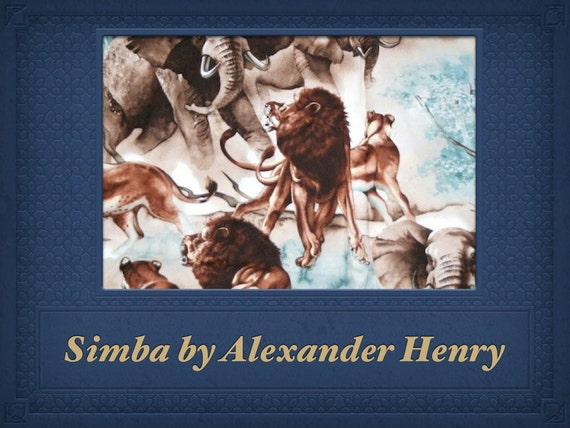 Simba FABRIC   -   By The Alexander Henry Fabrics Collection   --   1 Yard  --  2006