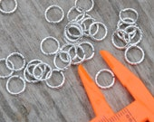 Twisted Sterling Silver Plated Jump Rings