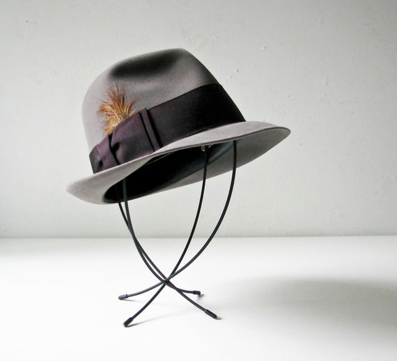 Vintage Madmen Hat - Grey Churchill - 1950s