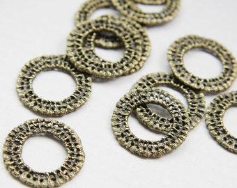 4pcs Antique Brass Tone Base Metal Ring  23mm (5613Z-O-124B)