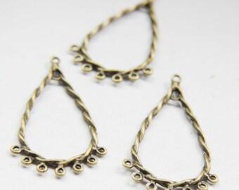 14pcs Antique Brass Tone Base Metal Earring Findings-44x25mm (26482Y-O-175B)