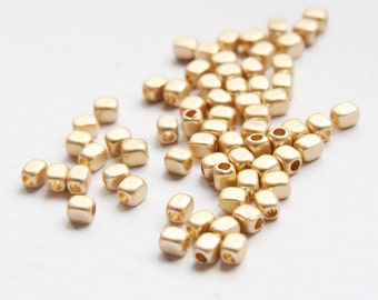 14pcs Matte Gold Tone Base Metal Spacer - 5x3.8mm (148C-Q-42)