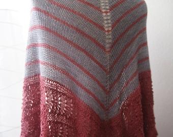 Knitting Pattern PDF / Among Friends Two Color Shawl