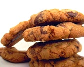 Milk Chocolate & Reeses Peanut Butter Chip Cookies - Chewy, Crunchy, Salty-Sweet, Out-Of-This-WORLD - 12 Cookies (1 dozen)