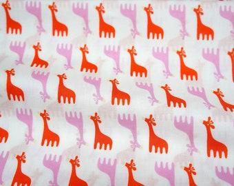ON SALE Japanese fabric Giraffe print  nc33