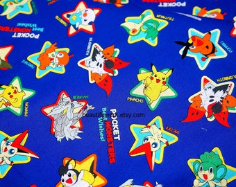 pokemon licensed fabric half meter LAST PIECE Printed in Japan ©nintendo ©pokemon