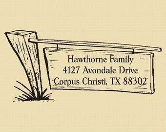 Hawthorne Family - Custom Return Address - Rubber Stamp - Design R0019
