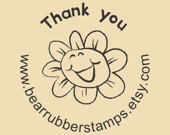 Thank you Custom Traditonal Rubber Stamp Design R031