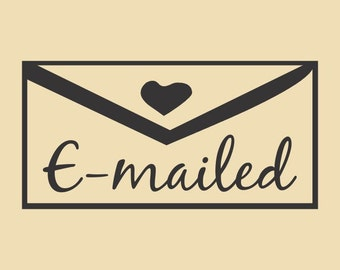E-Mailed Ready to Ship Rubber Stamp Design RTS 004