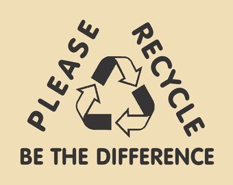 Please Recycle Be The Difference Tri Design RTS 007