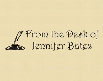 From the Desk of - Rubber Stamp - Design R015