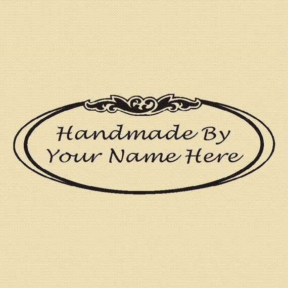 Handmade by You - Custom Rubber Stamp - Design R001