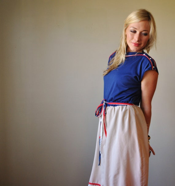 1970s Nautical Day dress