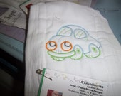 Burp Diaper Embroidered with A Toy Car