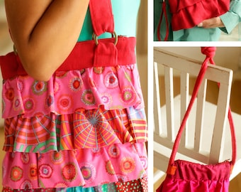 Ruffled Trio Purse Sewing ePattern PDF - three sizes of purse in one digital pattern